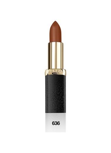 L'Oréal Paris L'Oréal Paris Color Riche Matte Addiction Ruj 636 Mahogany Studs - Kahverengi Kahve